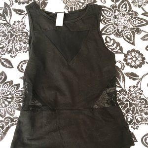 Black fitting body suit